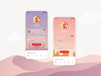 App for a convenience store - Notification Dashboard productdesign uiux app design ranking point system gamification notification