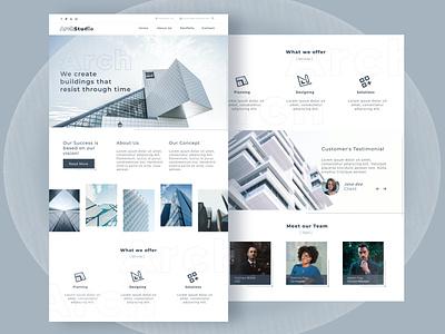 Arch Studio webdesigner designer figma architecture webdesign