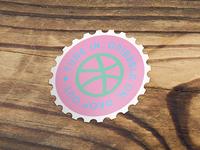 Pure Love Stamp Sticker