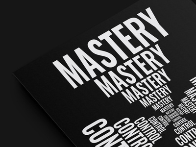 New wave. Mastery poster design poster art poster typographic illustration typography art type art typographic typography type