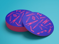 New Visual Culture coasters letters acid vivid modern distortion new visual culture contemporary composition typographic typography type