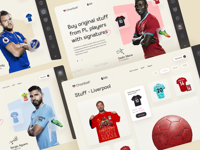 Chairball — Charity Auction Site Design Concept landing page design uxui ui design ui site design