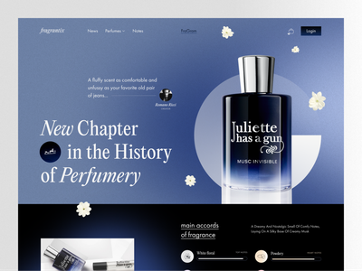 Fragrantix — Perfume Blog Landing tom ford beauty cosmetics perfume hermes mcqueen fragrance uiux trend design web landing ux ui
