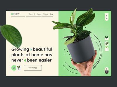 Planty — Plants Shop Landing Page pot cactus flower garden online shop commercial plant uiux trend design web landing ux ui