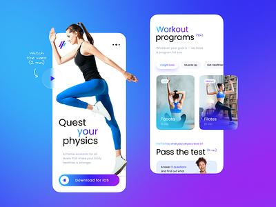 Physiquest — Mobile Page Exploration design uiux ux ui mobile app mobile ui