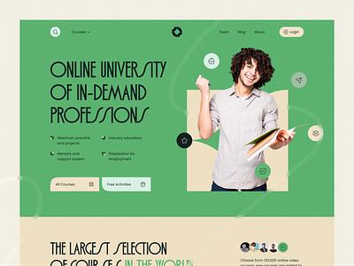 Sciety — Online Education Platform webdesign website education landingpage landing uiux ui