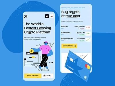 Crypster.io — Crypto Platform Mobile Page crypto landing mobile design mobile ui uiux ui