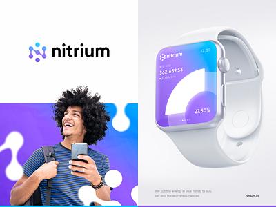 Nitrium — Crypto Trading Platform identity crypto typography vector logo branding