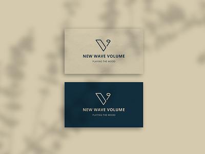 Music bussines cards volume music v logo design business card design music logo music note logo bussines card