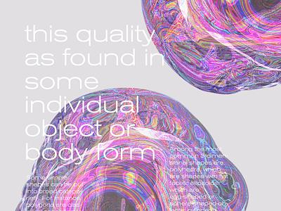 The shape 01 shape acid editorial design acid graphics editorial art editorial typography 3d art 3d design graphicdesign