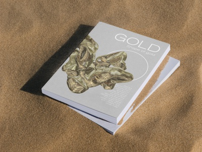 The Shape of Gold magazine cover typography editorial design acid graphics acid editorial art 3d art 3d design graphicdesign editorial