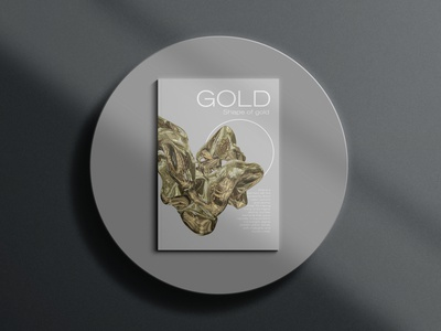 Shape of Gold book cover magazine cover magazine gold typography editorial design editorial art editorial graphicdesign design