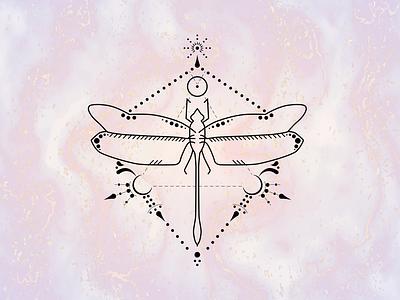 DRAGONFLY TATTOO lines dots dragonfly tattoo design tattoo