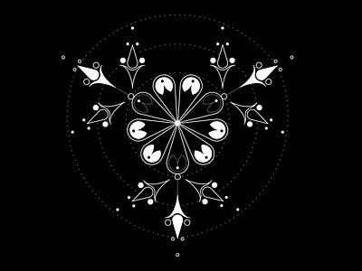 FLOWER POWER TATTOO lines dots feminine flower tattoo tattoo design