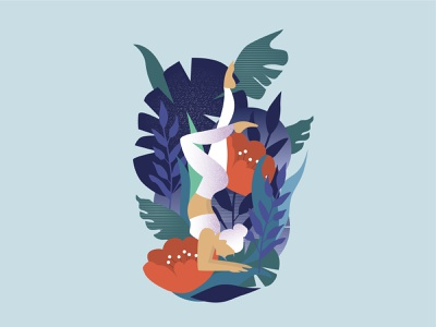 yoga illustration vector illustration