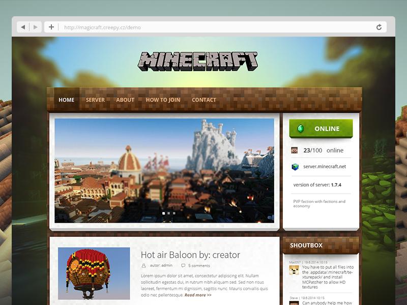 html шаблоны для майнкрафт сайта #6