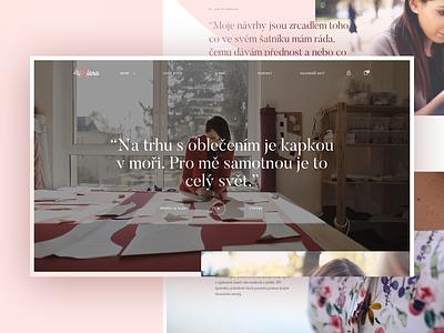 La Klara – about page rose warm designer fashion aboutus about ecommerce typography gradient webdesign website web