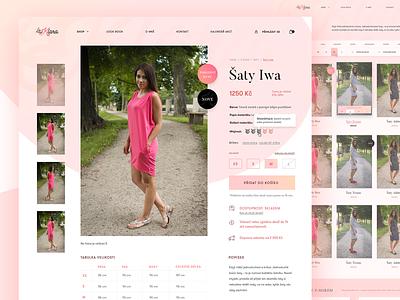 La Klara - Product page product page product shop ecommerce typography gradient webdesign web
