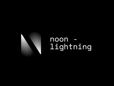 Noon lighting logo concpet bulb light monotype shadow black  white black logotype brand branding logo
