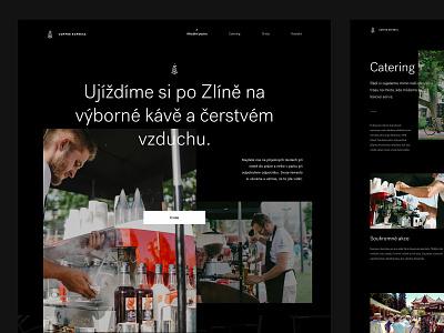 Coffee Express minimalistic dark cafe coffee express express black coffee webdesign web