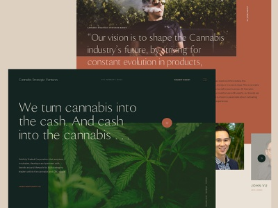 Cannabis Strategic Ventures grid green venture capital cannabis webdesign web