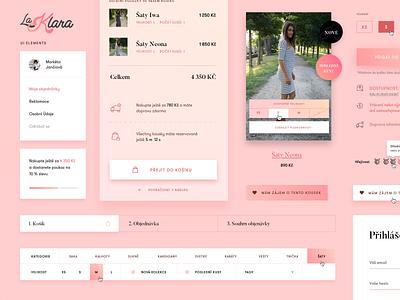 La Klara UI ellemnts kit ellements uikit ui gradient webdesign web