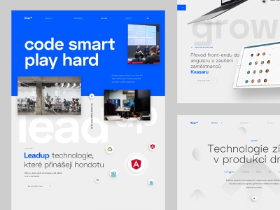 Flow Up – Culture page typography grid technology website blue corporate webdesign web