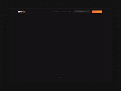Ematiq – esport startup startup esport animation isometric illustration isometric illustration grid dark black gradient website design webdesign web