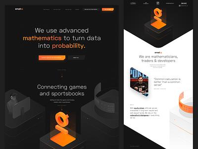 Ematiq – homepage illustration isometric website landing page esport dark webdesign web