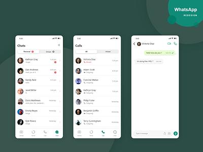 Whatsapp - Redesign minimal typography design ux ui app