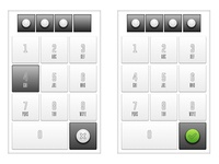 White Lock Keyboard