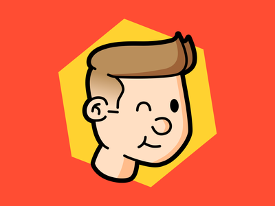 Mini Michael headshot cartoon sketchapp sketch person illustration avatar