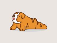 A pup doing Yoga dog logo mascot yoga fun cartoon character adorable cute puppy dog illustration
