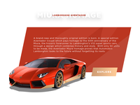Daily UI typography simple onepage website ux ui design