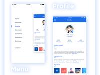 Menu + Profile