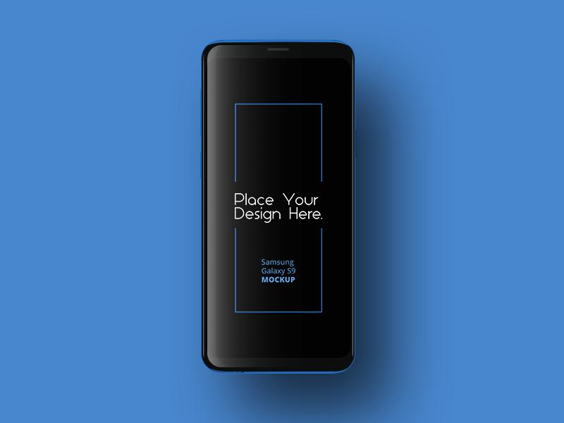 Samsung Galaxy S9 design line flat s9 galaxy samsung mobile mockup free
