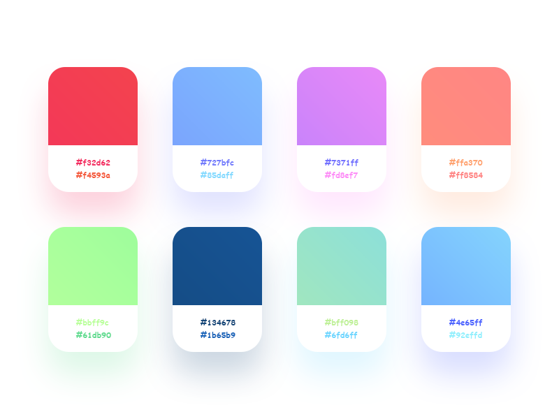 Gradients - Free Swatch ux ui design free swatch gradients colors