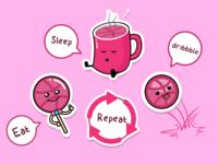 Eat Sleep Dribbble Repeat