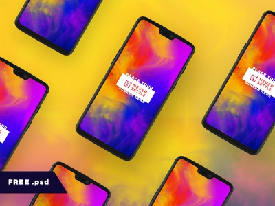One Plus Six Mockup vector template phone oneplus6 oneplus mock-up mockup mobile freebie free download android