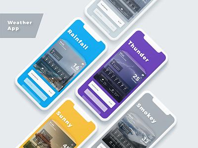 Weather App UI weather mobile ios andorid ux ui design app