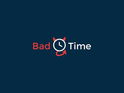 Bad Time evil clock time bad logo