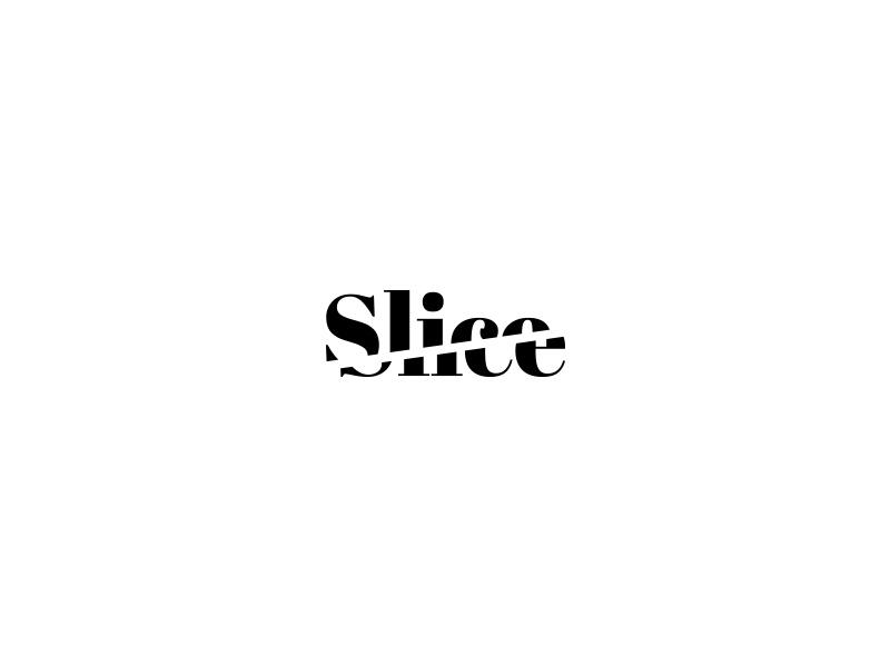 Slice Logo Design typography branding design logo slice