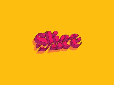 Slice text 3d identity typeface branding design logo slice