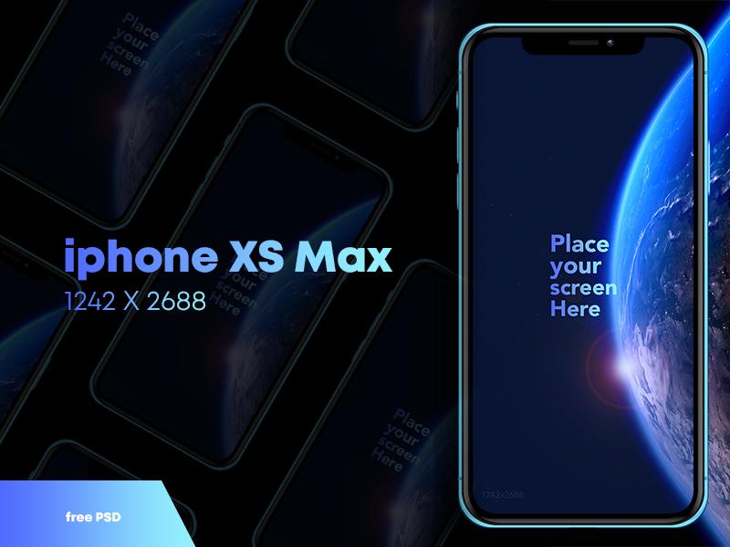 Free iPhone XS Max Mock up design ux ui psd max xs apple iphone mockup free