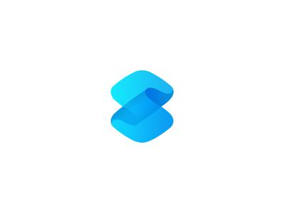 S mark 3D branding identity ux ui design mark s logo
