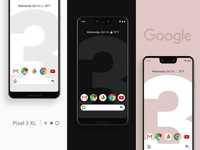 Meet the New Google Pixel 3 XL free product design ux ui real mockup xl 3 pixel google