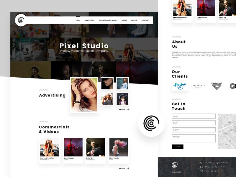 Pixel Studio studio pixel simple onepage ux ui design website