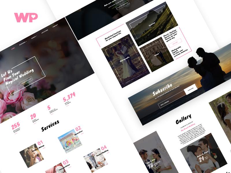 Wedding Planner responsive planner wedding onepage ux ui design website