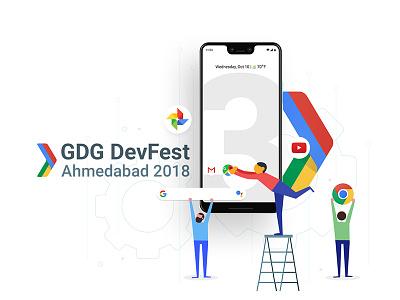 Banner Design For GDG group development google ahmedabad ux ui design banner gdg