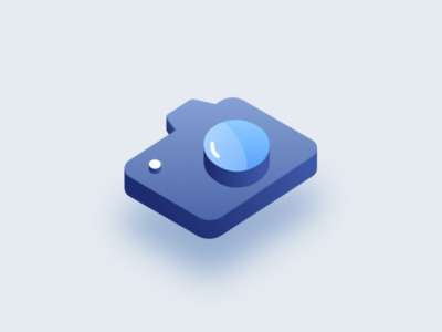 Isometric camera icon design camera isometric illustration
